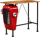 vidaXL Tractor Bar Table Solid Mango Wood Red 60x120x107 cm