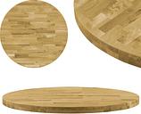 vidaXL Superficie de mesa redonda madera maciza de roble 44 mm 700 mm