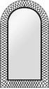vidaXL Wall Mirror Arched 60x110 cm Black