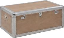 vidaXL Caja de almacenaje madera maciza abeto marrón 91x52x40 cm
