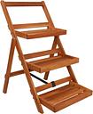 vidaXL Soporte para plantas de 3 niveles madera de acacia 50x63x80 cm