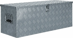 vidaXL Aluminium Box 110.5x38.5x40 cm Silver