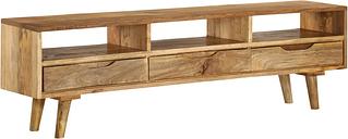 vidaXL TV Cabinet Solid Mango Wood 140x30x41 cm