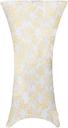 vidaXL Copertura Elastica per Tavolo 2pz 80cm Bianco con Stampa Dorata