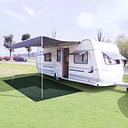 vidaXL Tent Carpet 250x400 cm HDPE Green