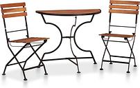 vidaXL Set mesa y sillas bistro de jardín 3 pzas madera maciza acacia