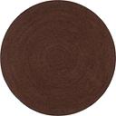 vidaXL Handmade Rug Jute Round 120 cm Brown
