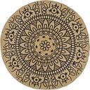 vidaXL Handmade Rug Jute with Dark Blue Print 150 cm
