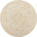 vidaXL Handmade Rug Jute White and Natural 150 cm