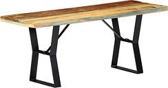 vidaXL Bench 110 cm Solid Reclaimed Wood