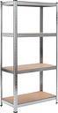 vidaXL Storage Shelf Silver 80x40x160 cm Steel and MDF