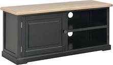 vidaXL TV Cabinet Black 90x30x40 cm Wood