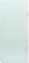 vidaXL Wall-mounted Urinal Privacy Screen 90x40 cm Tempered Glass