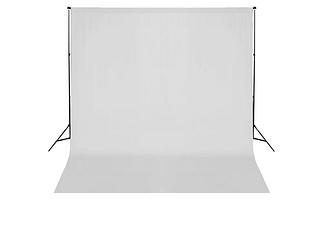 vidaXL Système de support de toile de fond 600 x 300 cm Blanc