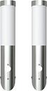 vidaXL 2 Motion Detector Stainless Steel Wall Lights