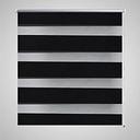 vidaXL Roleta Zebra 120 x 230 cm czarna