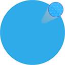 vidaXL Cubierta solar de piscina de PE redonda y flotante 300 cm azul