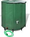 vidaXL Serbatoio per acqua della pioggia pieghevole 500 L