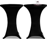 vidaXL Housse de table ?60cm Noir extensible 2 pcs