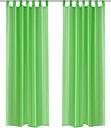 vidaXL Tende Trasparenti 2 pz Verde Mela 140 x 245 cm