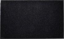 vidaXL Felpudo alfombra de entrada PVC negro 90x60 cm