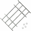 vidaXL Reja de seguridad ajustable ventana con 4 barras 1000-1500 mm