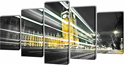 vidaXL Set decorativo de lienzos para pared Big Ben de Londres 200x100 cm