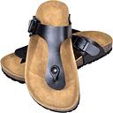 vidaXL Women's Bio Cork Sandal with Flip Flop Design Black Size 39