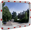 vidaXL Espejo de tráfico convexo rectangular con reflectores 60 x 80cm