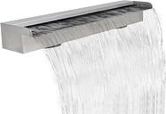 vidaXL Fuente cascada rectangular piscina acero inoxidable 90 cm