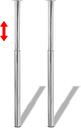 vidaXL Gambe Telescopiche per Tavolo 2 pz Cromate 710 mm-1100 mm