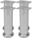vidaXL Set 4 gambe rotonde per sofa cromate 180 mm