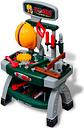 vidaXL Kids'/Children's Playroom Toy Workbench with Tools Green + Grey