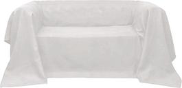 vidaXL Housse de canapé Micro-suède Crème 140x210 cm