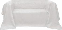 vidaXL Housse de canapé Micro-suède Crème 210x280 cm