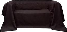 vidaXL Housse de canapé Micro-suède Marron 140x210 cm