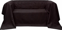vidaXL Housse de canapé Micro-suède Marron 270x350 cm