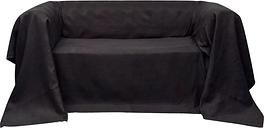 vidaXL Housse de canapé Micro-suède Anthracite 140x210 cm