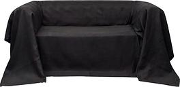 vidaXL Housse de canapé Micro-suède Anthracite 210x280 cm