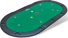 vidaXL 10-Player Foldable Poker Tabletop Green
