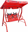 vidaXL Kids Swing Seat Red