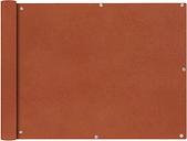 vidaXL Parawan balkonowy z tkaniny oxford, 90x600 cm, terakota