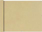 vidaXL Parawan balkonowy z tkaniny Oxford, 90x400 cm, beżowy