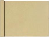 vidaXL Parawan balkonowy z tkaniny oxford 90x600 cm beż