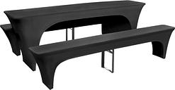 vidaXL Housse pour table de pique-nique/bancs 3 pièces Anthracite
