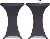vidaXL Housse de table extensible 2 pcs 70 cm Anthracite