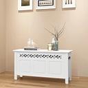 vidaXL Storage Bench Baroque Style MDF White