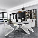 vidaXL Krzesła stołowe, 6 szt., białe, sztuczna skóra