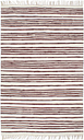 vidaXL Hand-woven Chindi Rug Cotton 80x160 cm Burgundy and White