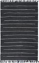 vidaXL Hand-woven Chindi Rug Cotton 80x160 cm Anthracite